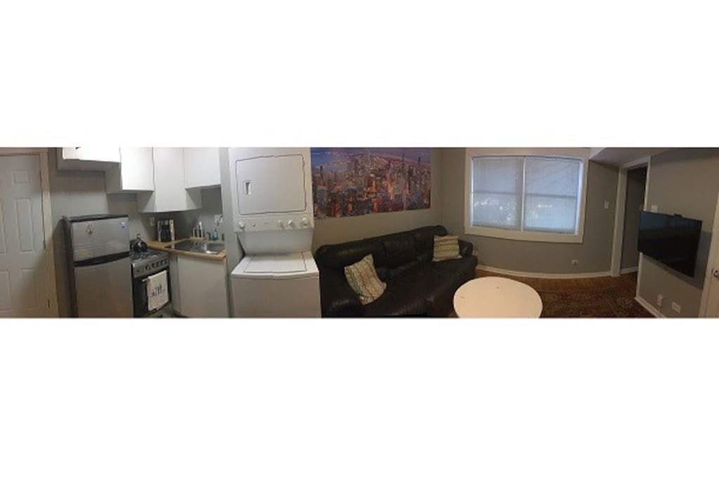 Panoramic view of apartment