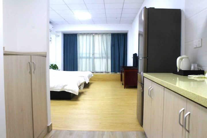 菁才中学旁精装全新单身公寓双人间