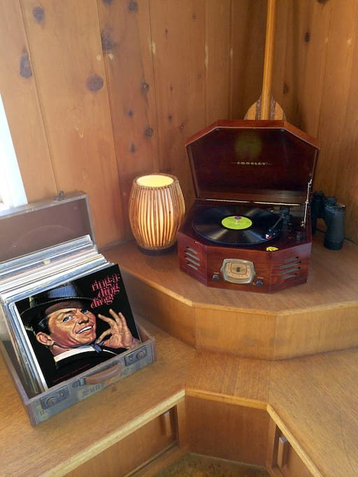 Two record boxes with a blended genre assortment of vinyl 78 LP -long play records and under cabinet 45's.