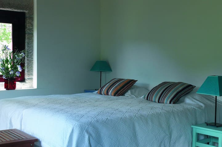 The cottage has 2 bedrooms with twin beds and ensuite bathroom