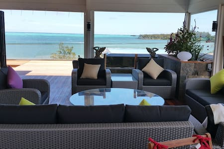 Front beach Penthouse with gorgeous sea - Roches Noires - 公寓