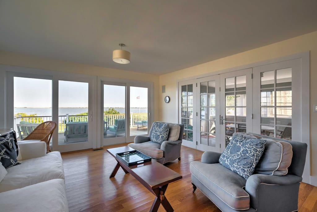Look forward to views of Shinnecock Bay from the screened-in patio and balcony!