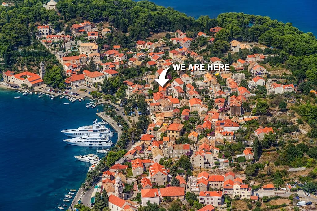 We are here :) Old Town of Cavtat, Dubrovnik Croatia