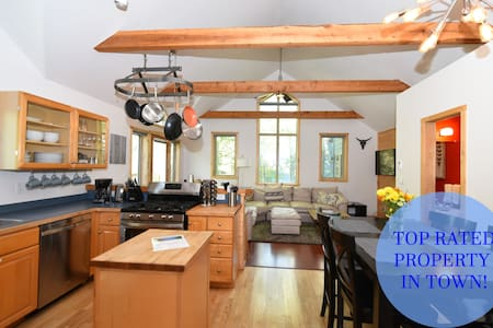 Quiet Tall & Bright Space, 2 Blocks from Elk Ave!