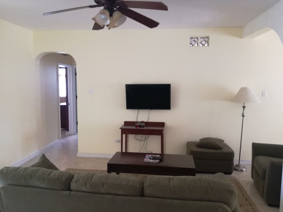 Recently added flat screen TV