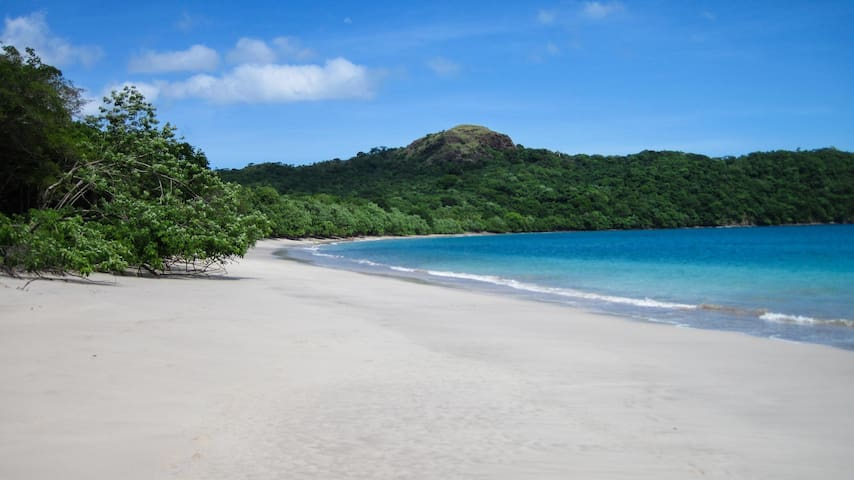 Playa Conchal has been called the most beautiful beach in Costa Rica - only a 10 minute walk away