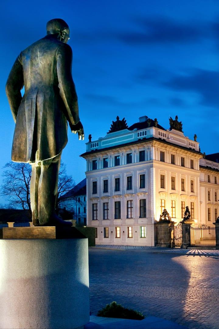 The main entrance to Prague castle