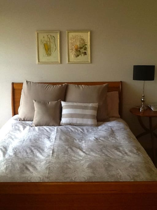 Large Room with Built-ins.  Queen Size Bed with Electric Blanket and all linen supplied