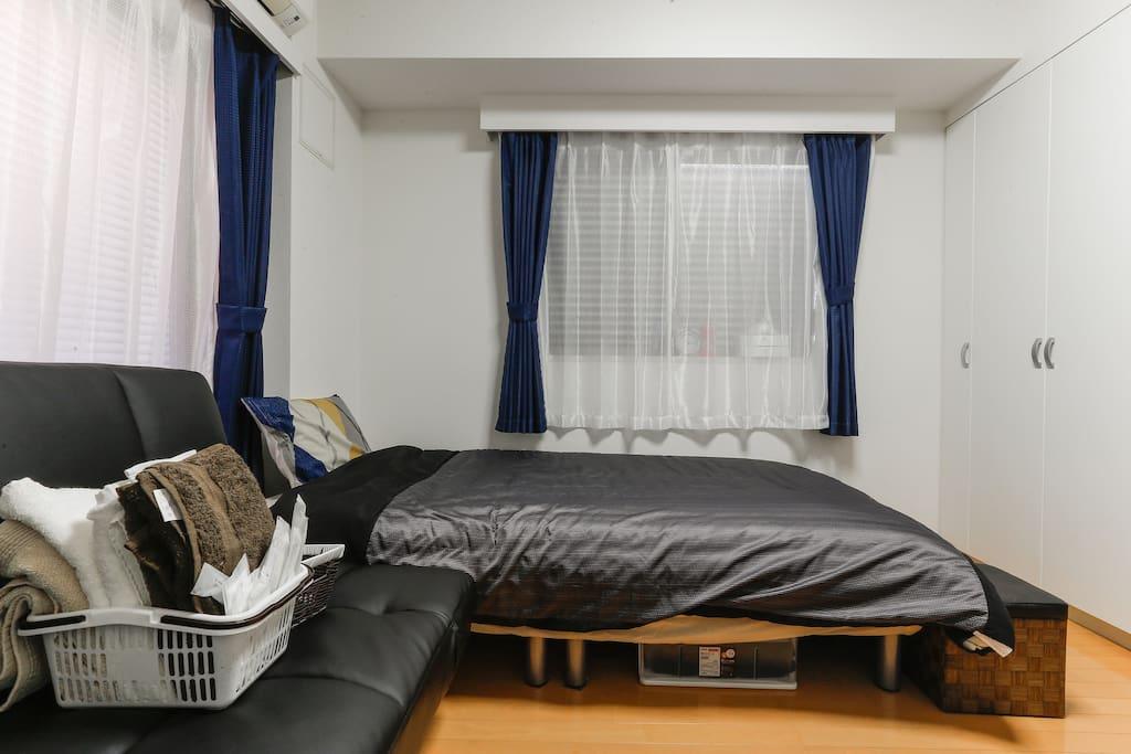 Semi-double bed w119*d197
