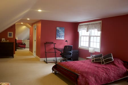 Loft Bedroom in historic Schoolhouse - Bryn Mawr