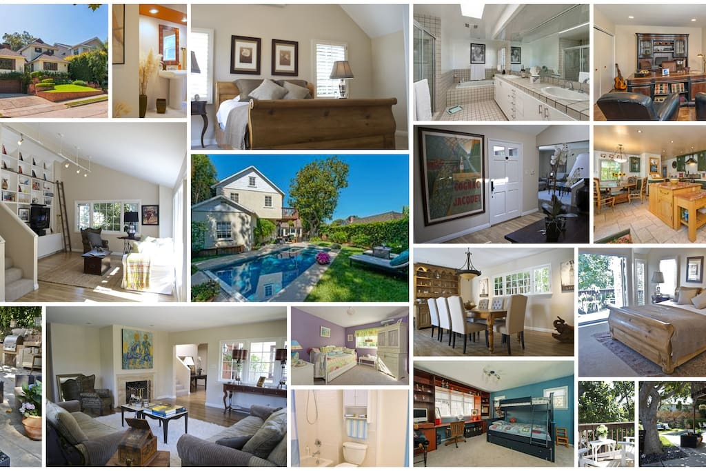This house has everything! Kitchen, media room, living room, office, staff room, huge master, 2 more bedrooms upstairs, garage, storage, jacuzzi tub, and the most fabulous backyard with pool and bar-b-que to enjoy the California lifestyle!!