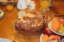 La brioche du petit déjeuner