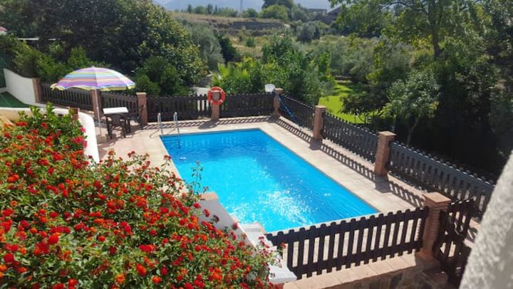 Villa with 2 bedrooms in Órgiva, with wonderful mountain view, private pool, enclosed garden