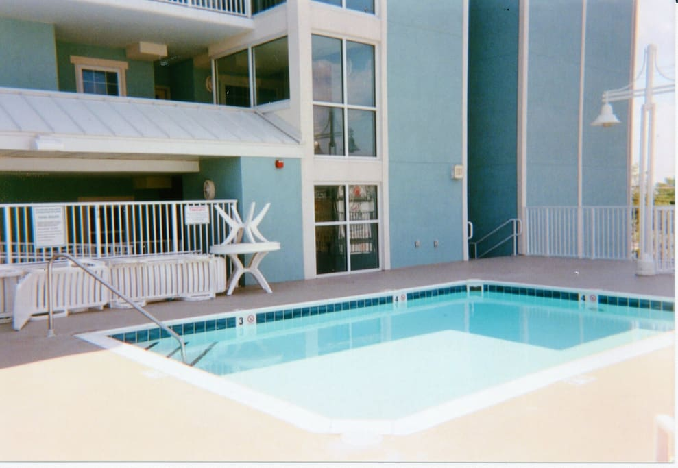 Community Pool on same level as condo