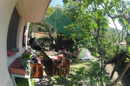 Tent space in the green garden - Lagadin