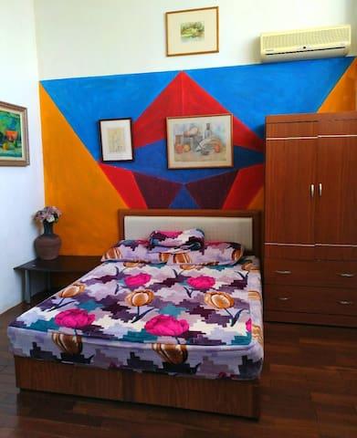 新竹獨特藝術之家雙人舒適房間