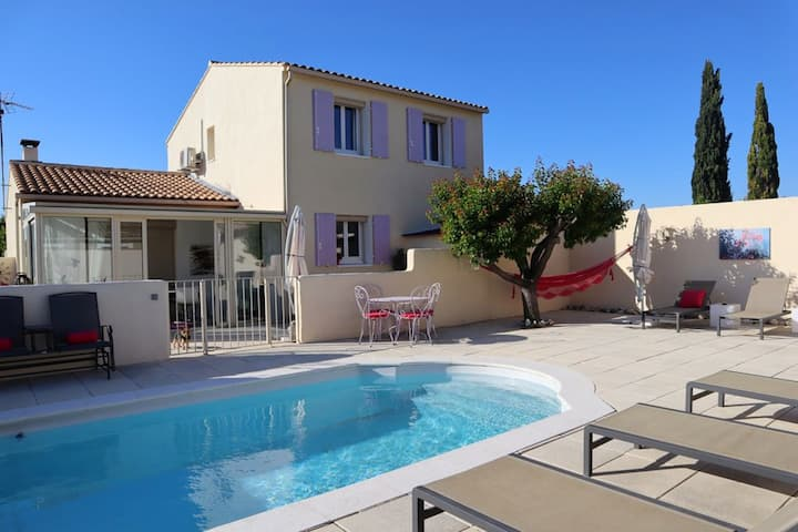 Villa with 3 bedrooms in L'Isle-sur-la-Sorgue, with private pool, furnished terrace and WiFi