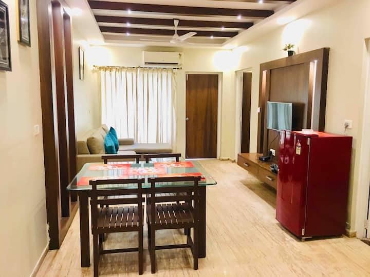 Luxury 2bhk Family apartment Fast Wifi Near Baga
