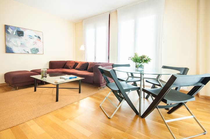 Cozy and bright duplex, AC, garage wifi unlimited - Madrid - Leilighet
