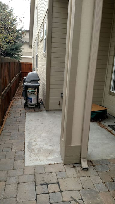We have a propane-gas grill and a fire-pit that is available for use.