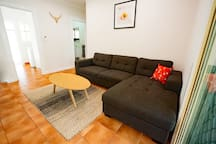 Cool modern living area.  Fully air conditioned
