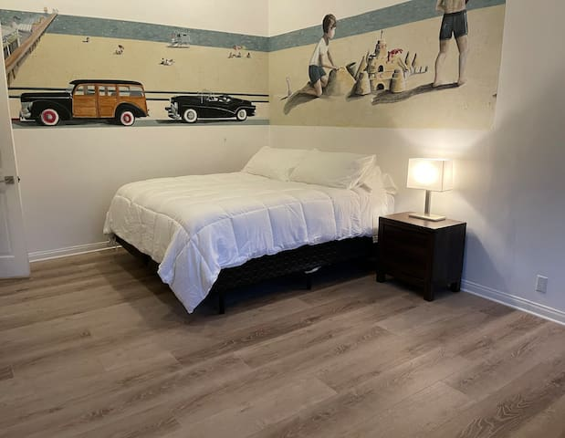 Bedroom 2 - huge room - Mountain View window with California King. Walk in closet and attached full bathroom.