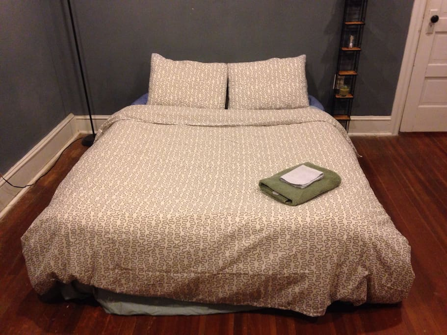 The most comfortable airbed ever! Working on getting a real bed.