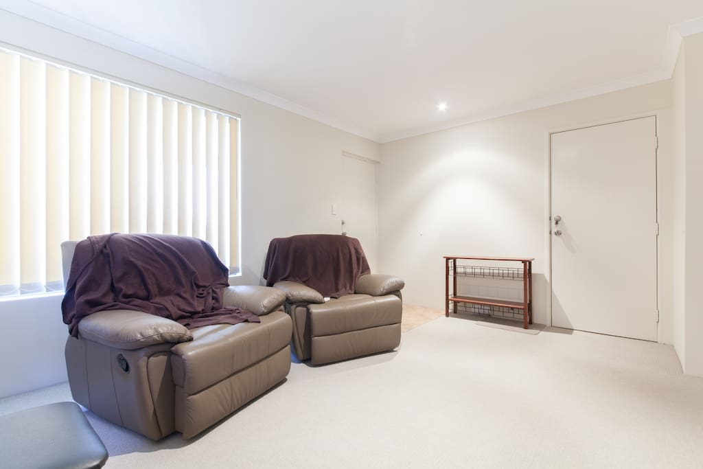 Your private living area with two reclining chairs