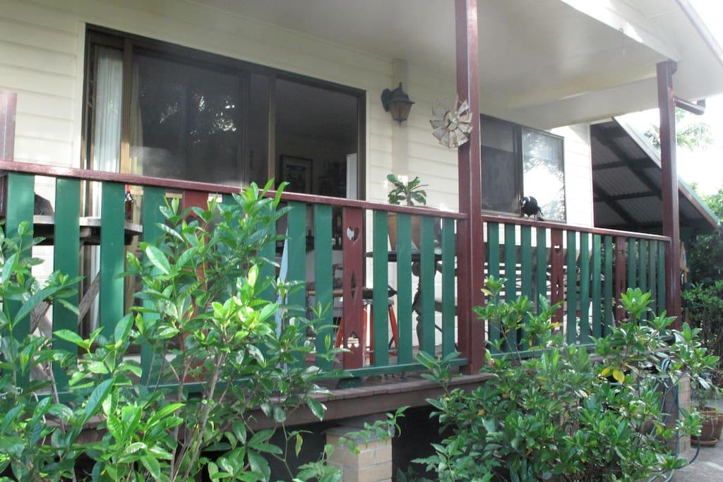 front veranda  west facing
