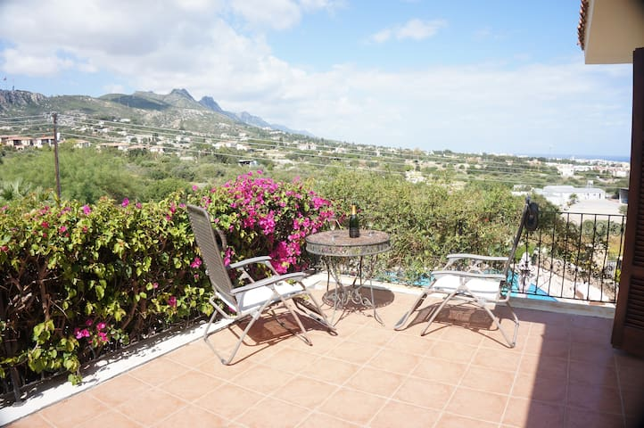 Panoramic views from the bedroom balcony. Perfect for a glass of Bubbly or a GnT