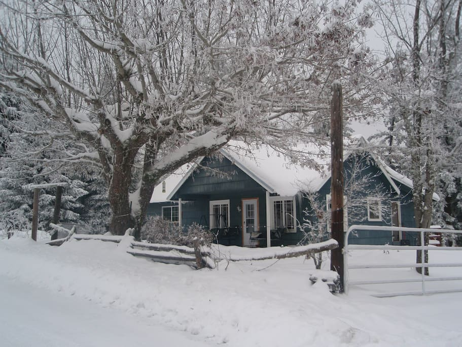 House in winter..it's very snowy right now:)