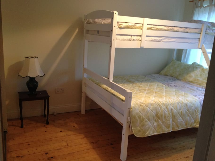 Bedroom two - double bed and single bed