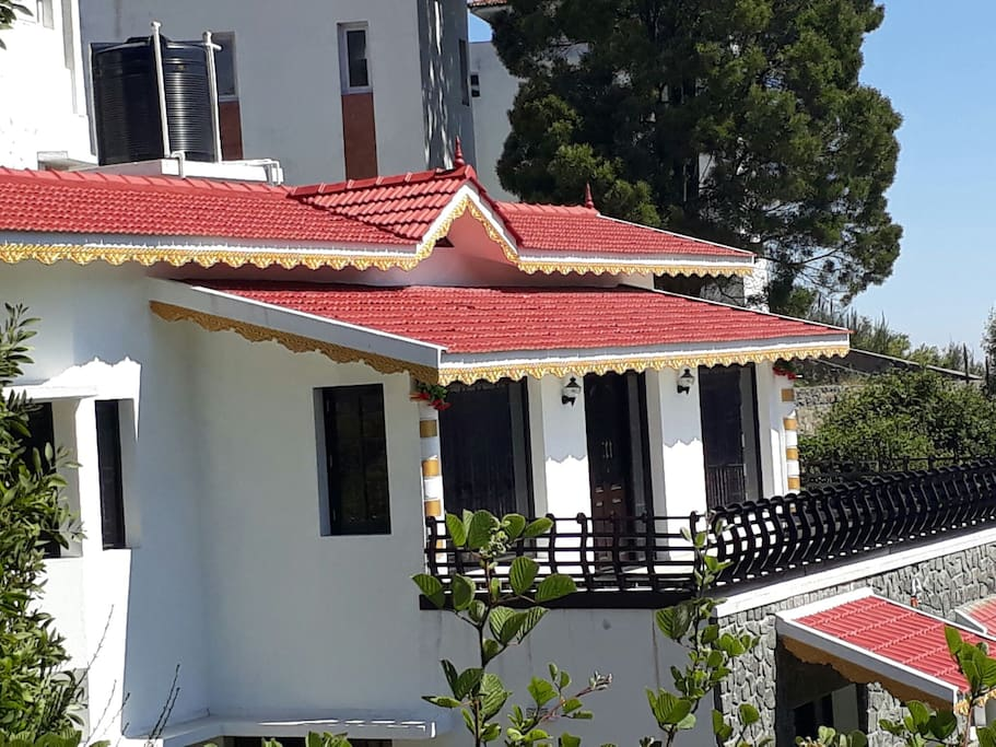 Front view with Kerala type chair with balcony