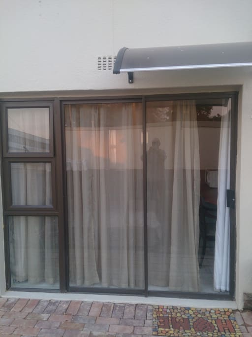 Private Entrance with patio