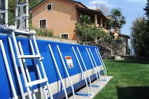 pool area, close to home
