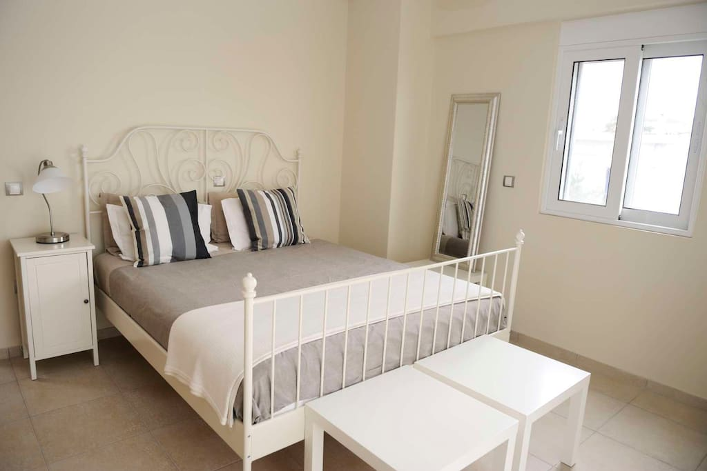 Main bedroom with balcony and sea views. Air conditioned and shower and wc off bedroom