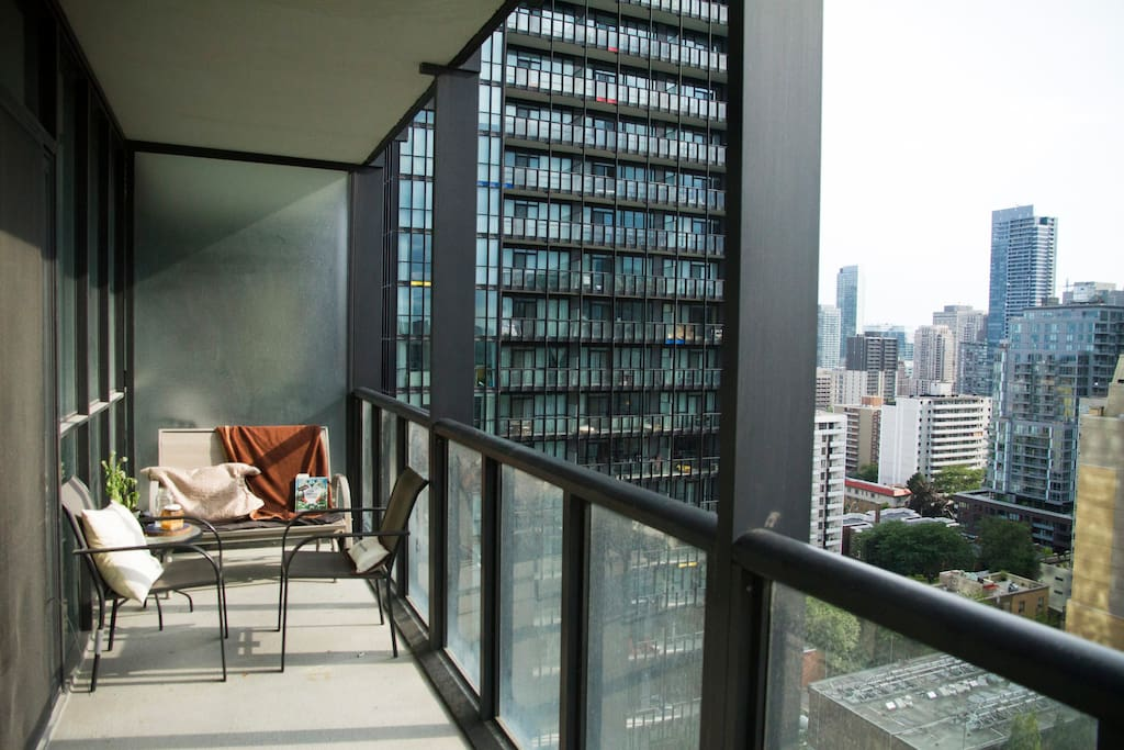 The balcony is all yours to enjoy. Hang out, take in the sunlight and enjoy the view.