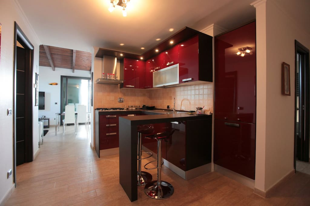 full kitchen with dishwasher. we are 20 mt from commercial centre with big supermarket