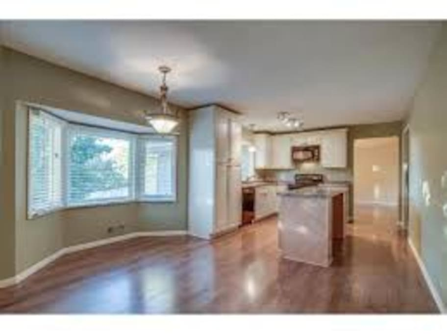 Large kitchen with island and full amenities