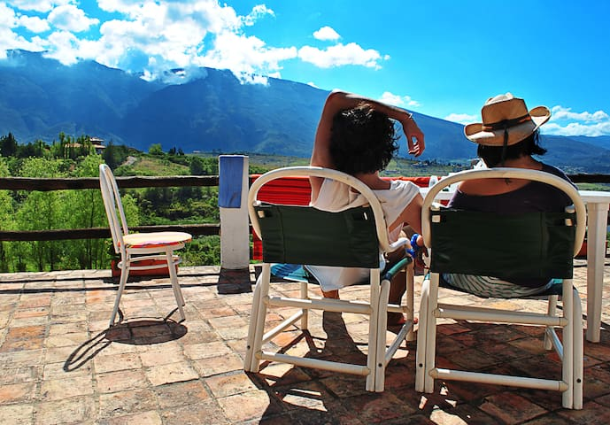 Countrified Cottage (amazing view!) - Villa de Leyva - Cabin