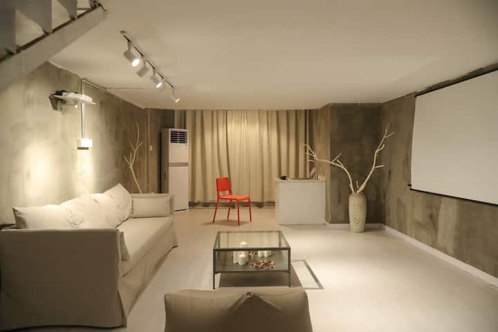 【茸述#17】Loft投影双床套房/市中心江滩/江汉路步行街