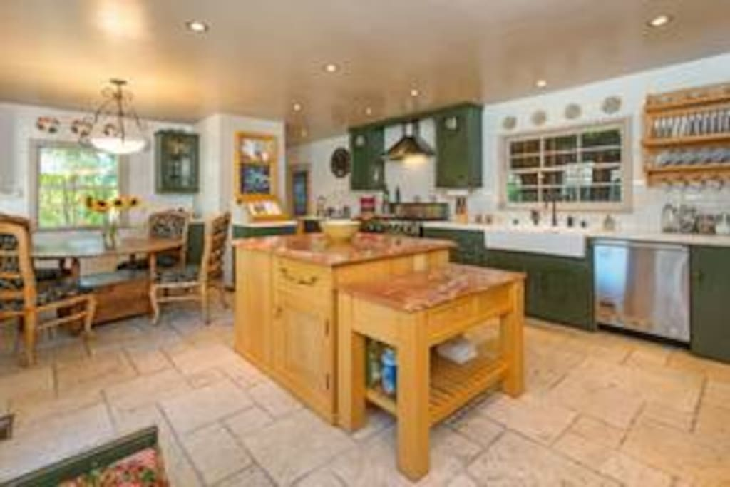 Huge gourmet kitchen to enjoy with family, friends, and of course, the chef!