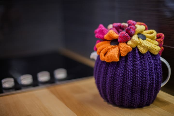 The resident tea cosy adding colour and style!