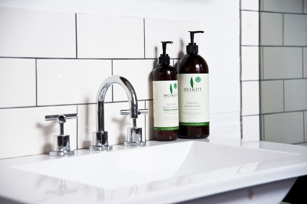 Beautiful organic toiletries