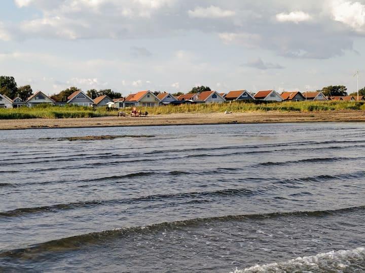 Mysigt fritidshus vid havet i Falkenberg.