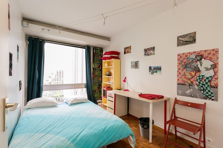 Paris chambre priv e 1 lit 2 voyageursroom in flat in paris montparnasse - Airbnb paris montparnasse ...