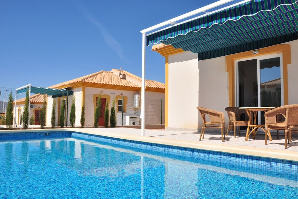 5pers villa in spanje met zwembad villas for rent in murcia region of murcia spain - Zwembad terras outs ...