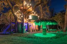 The Tiki hut bar
