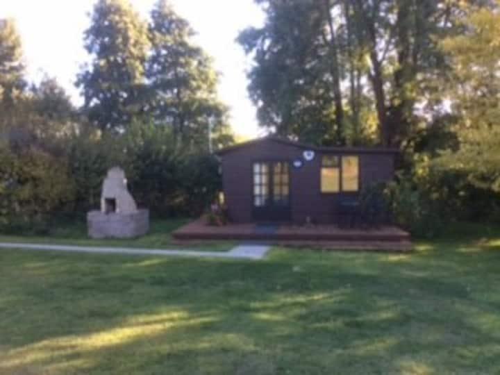 Shepherd's Hut at Bellows Mill, rural location.
