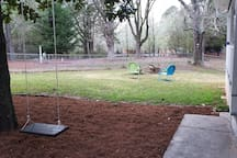 Charming swing fun for kiddos (and adults)